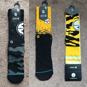 Stance Socks - Pittsburgh Steelers - 3 pairs Large
